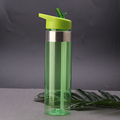 Custom color BPA free eco friendly clear tritan plastic straw water bottle