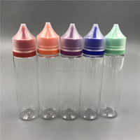 pharmaceutical in stock clear PET 60 ml unicorn bottle with child&tamper proof caps