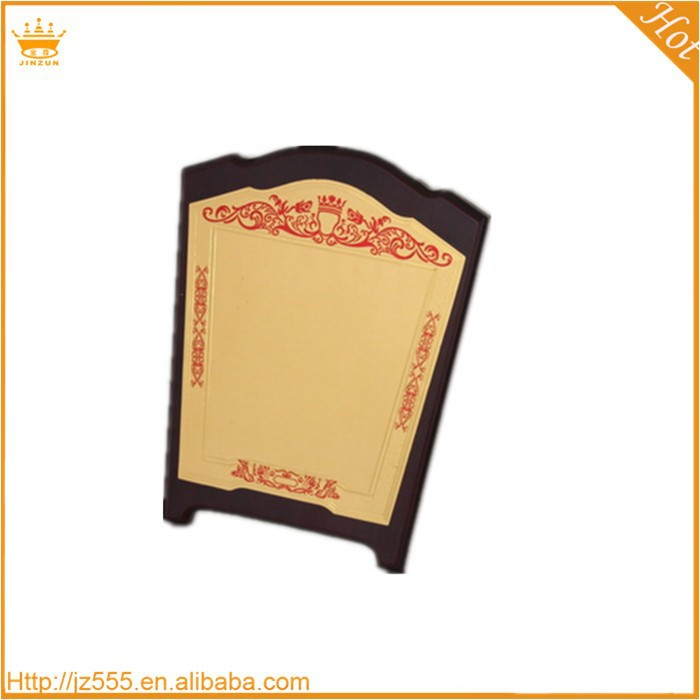 China islamic wooden crystal memorial plaques