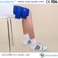 foot / thigh cool pack with wrap and belt to close to skin for relieve pains