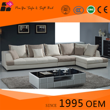 Home partition furniture fabric corner tight back sectional sofa set designs