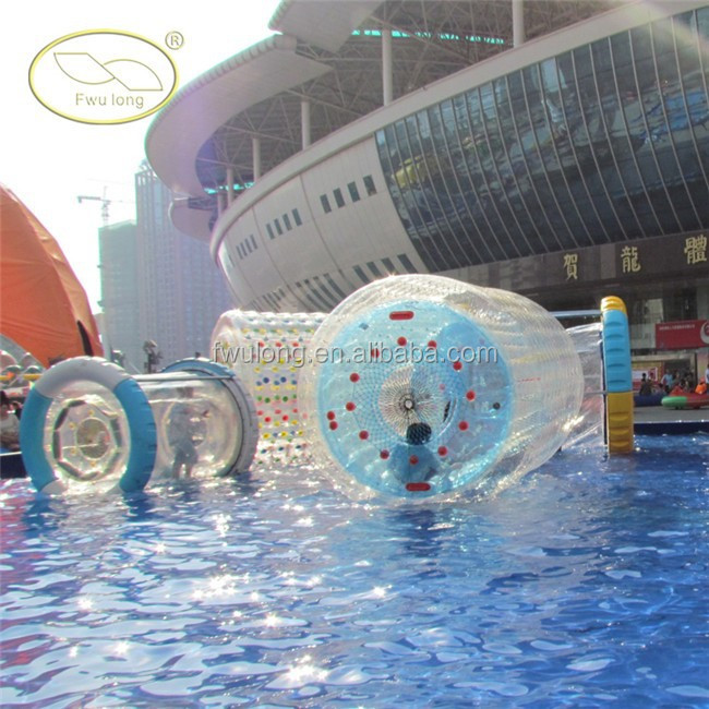 Water sports equipments walking on water in a ball