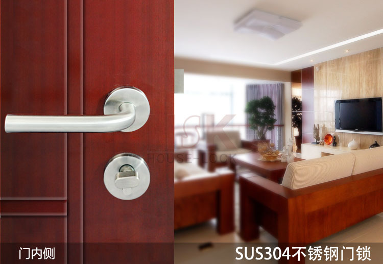 New style stainless steel fire-rated mortise lever handle