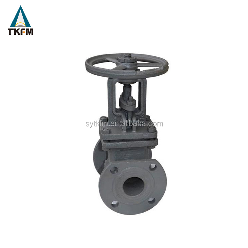 Flanged oversize long stem gate valve 10 cast iron class 150/300/600 manufacture