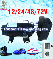 AC compressor parts 12/24v dc compressor for electric mini-van electric car cabin air conditioner