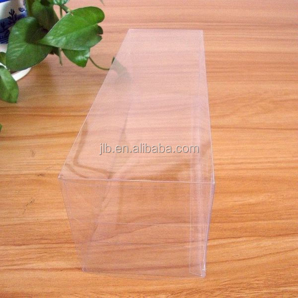 Luxury high and quality small clear flat plastic boxes for retail