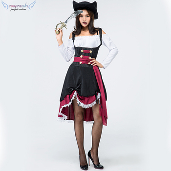 Halloween female pirate cosplay sexy adult stage costume