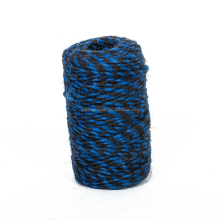 Twist Double Colored Jute Rope String Twine Striped for Gift Wrapping