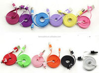 New Arrival Micro Colorful Noodle Flat Data Sync USB Charging Cable for cell phone