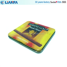 Custom Printing rectangle metal cigarette case tin box packaging