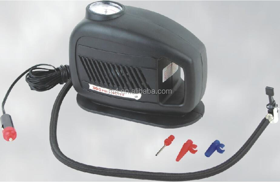 Plastic portable auto air compressor tyre inflator