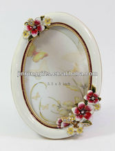 70449-35A Polyresin Frangipani Photo Frame 3.5x5'' Oval