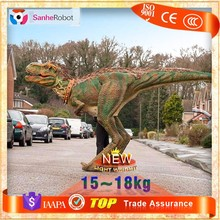 Hot Sale Western Style Performance Life Size Dinosaur Puppet with Feather