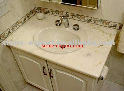 marble vanity top with faucets,sinks,wooden bathroom cabinet