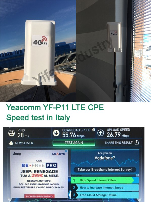 YF-P11 waterproof IP66 High Quality 4g lte outdoor CPE