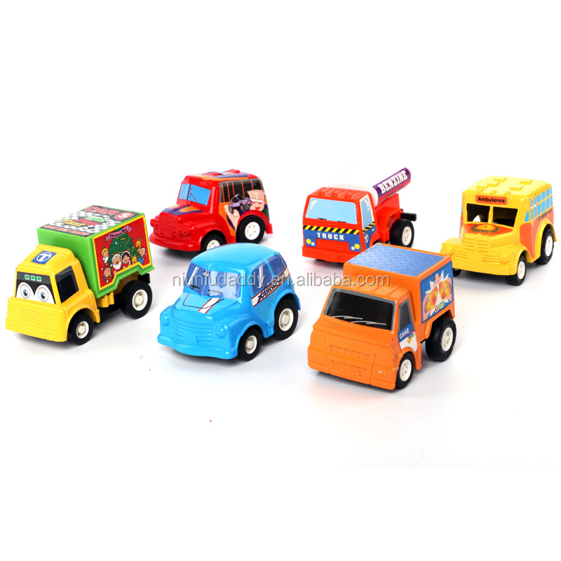 Niuniudaddy 6 pieces/bag Multicolor plastic mini pull back car educational toys children toy car Free shipping