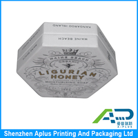 Custom handmade luxury round soap box packaging printing / promotion paper soap gift box