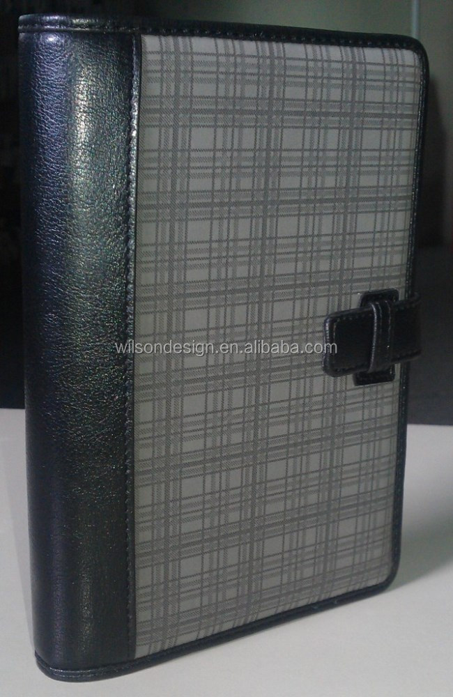 Customized leather personal organizer notebook / PVC Cover