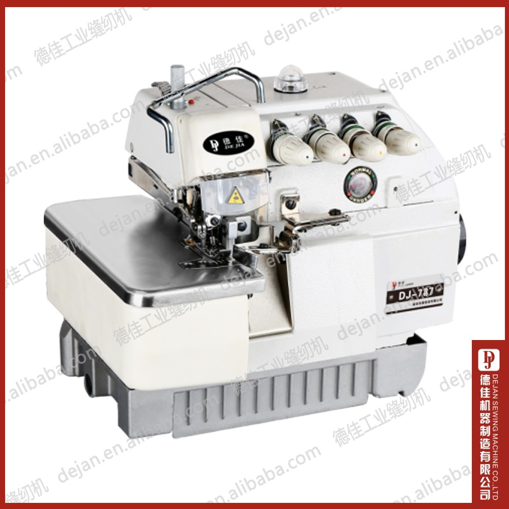 overlock sewing machine DJ 747 high speed Silver industrial sewing machine
