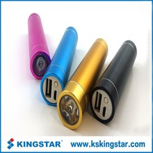 mini led flashlight keychain power bank mobile phone emergency charger