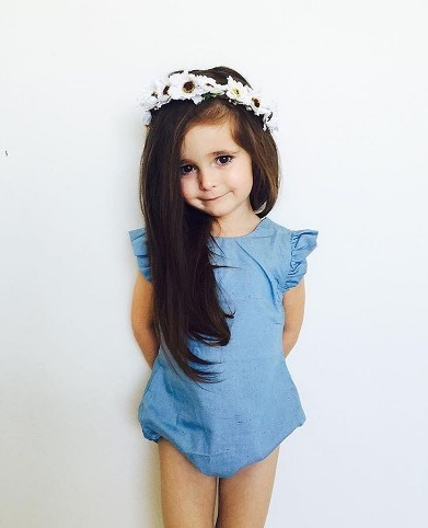 B21552A Summer new fashion Infant baby denim rompers