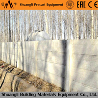 precast concrete boundary walls machine with cement fencing pole
