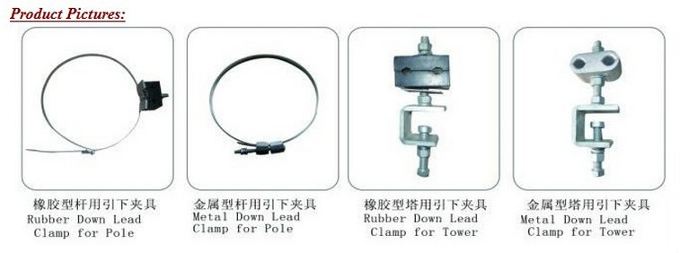 China good quality welding type Down Lead Clamp For Tower And Pole