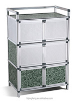 2017 hotsale and cheap household sundries MDF aluminum storage