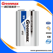 Super Heavy Duty Battery 6F22 9v Dry Carbon Zinc Battery 6f22