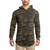 2017 Wholesale fitness manufacturers bodybuilding custom fitness hoodies,trade assuance bulk camouflage hoodies from China