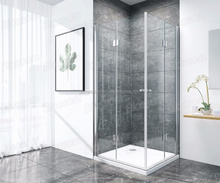 European Style 6Mm Tempered Toughtened Frameless Folding Glass Shower Doors With Pivot Hinges