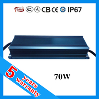 High PF Low Ripple Noise Free Waterproof IP67 Constant Current LED Power Supply 70W 3500mA LED Driver with CE RoHS