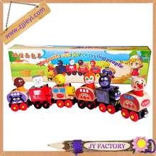 Cute cartoon magnetic wooden toy train
