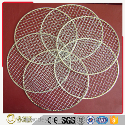 China manufacture galvanized/stainless steel plain weave crimped BBQ wire mesh/barbecue grill nets