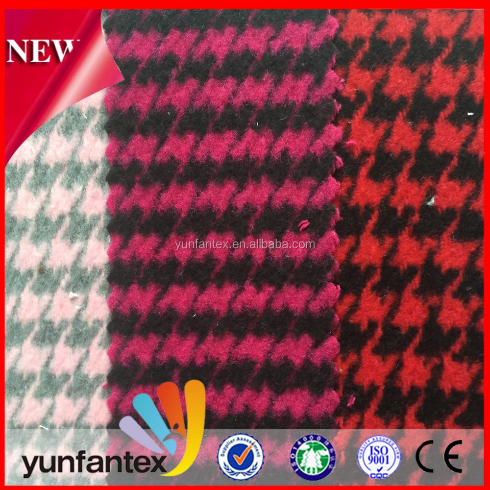 2016 high quality 100 cotton houndstooth poplin yarn dyed fabric