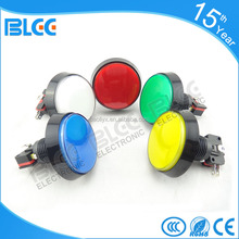 China wholesale different size of 12 volt on off reset push button switch for jamma machine