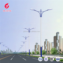 street light lamp poles dual arm octagonal poles