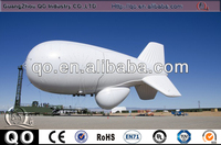 Big customized white outdoor promotional remote control helium balloon advertising blimp for sale