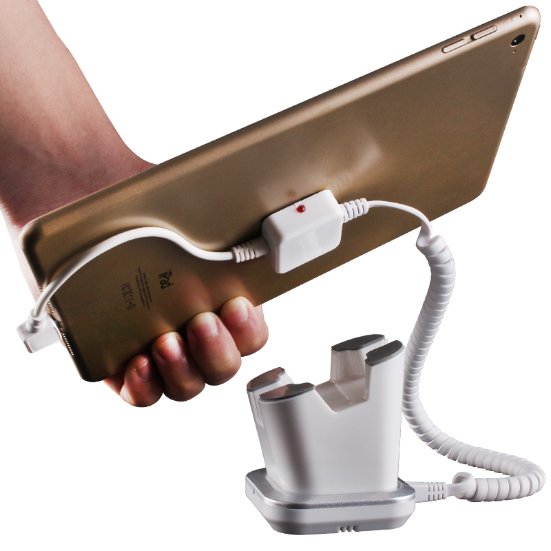 Intelligent alarm and charging universal cell phone and tablet PC display holder