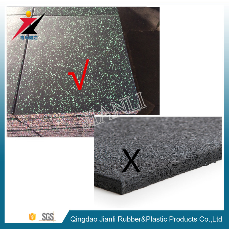 Seamless Speckled EPDM Rubber Gym Floor