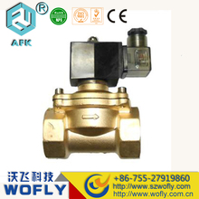 Direct acting DN50 dc24v solenoid valve 2 way nc