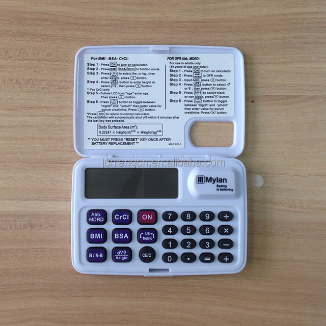 Hot Selling Medical BMI BSA CrCl Calculator for Health Gift