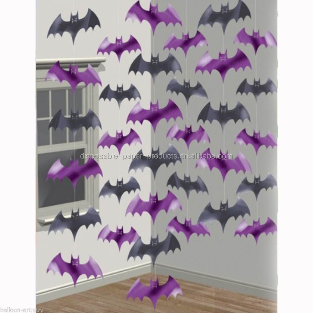 Halloween Party Supplies Paper Decorations Halloween Purple ...