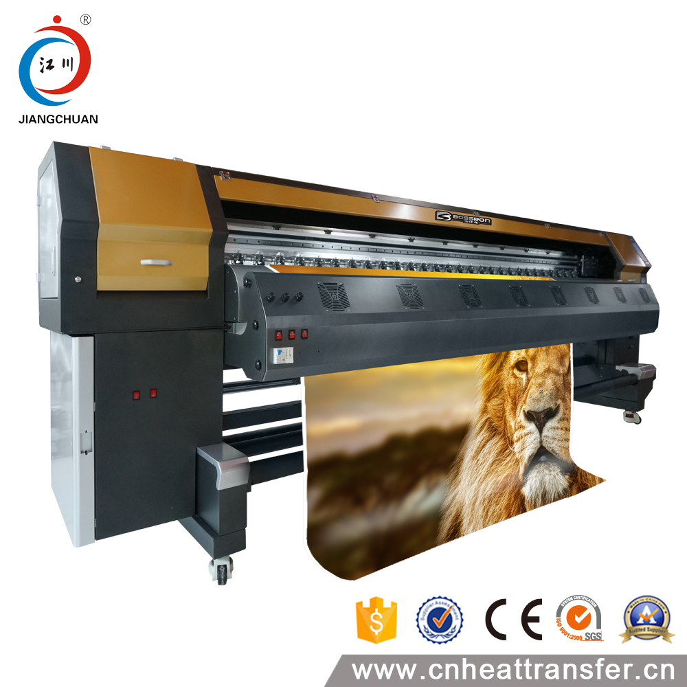 High Resolution Uni Bi - direction Roll To Roll Fabric Printing Digital UV Printer Machine