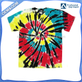 China manufacturer new fashion o neck cotton tie dye clothing vortex multicolor t shirt tie bye