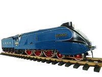 G Scale brass live steam 3 cylinder train--blue A4