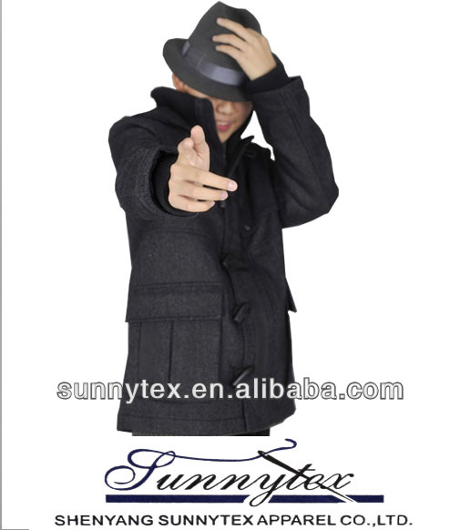 2015 hot sales high quality men's korean wool coat