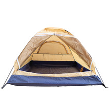 Free Build Yellow 2 Man Lightweight Tent For Camping
