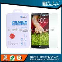 Manufacturer 9H high transparently toughened glass screen protector for LG G2