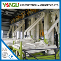 customized capacity pet dog and rabbit feed pellet production line with overseas service supply